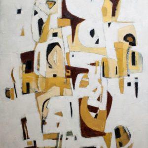 Thumbnail: Millarc SECRETS OF THE PAST oil on canvas 3X4' 2,800