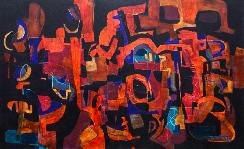 Millarc ABSTRACT TANGLE acrylic on canvas 30X48 2,800