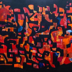 Thumbnail: Millarc WALL OF TALES 4X5' Acrylic on canvas $3,300