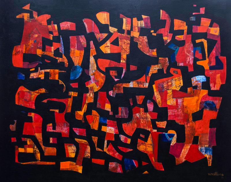 Millarc WALL OF TALES 4X5' Acrylic on canvas $3,300