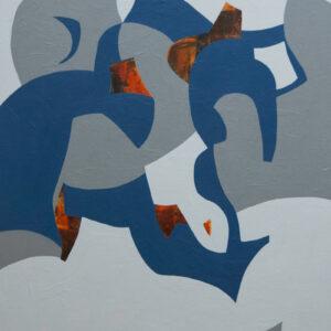 Thumbnail: Millarc TIME SEGMENTS acrylic on canvas 24X30 1,200