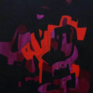 Thumbnail: Millarc VISIONS FROM AFAR mixed media on canvas 20X24 850