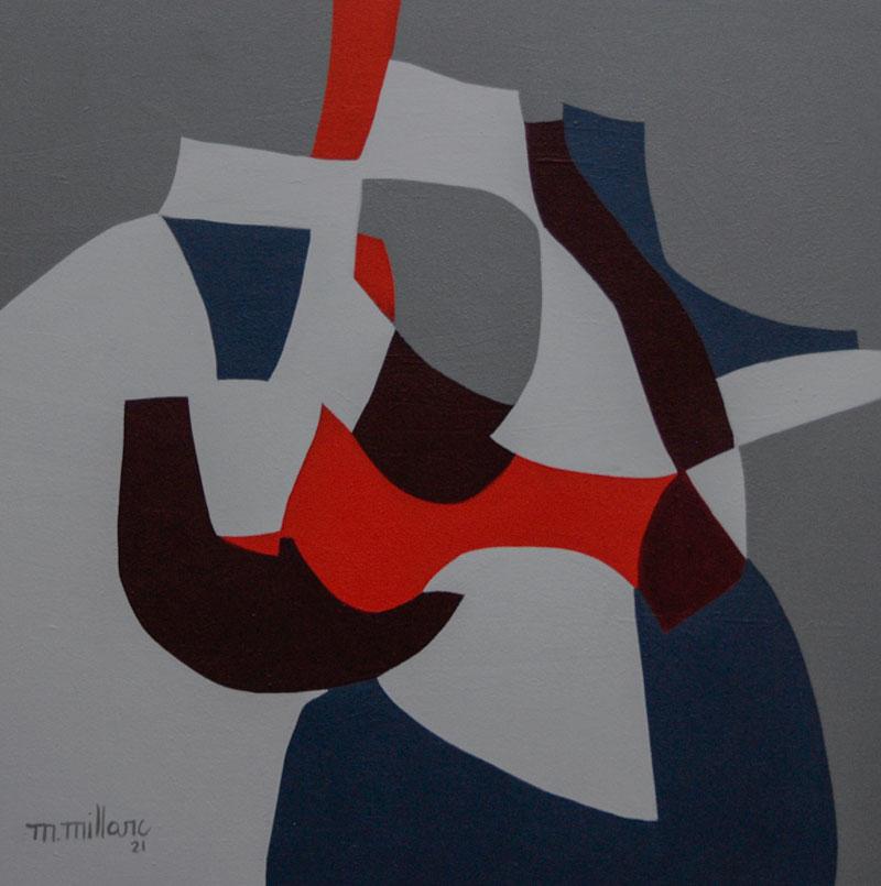Millarc PLAYFUL VARIATIONS acrylic on canvas 24X24 850